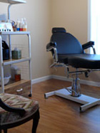 Private waxing and facial room